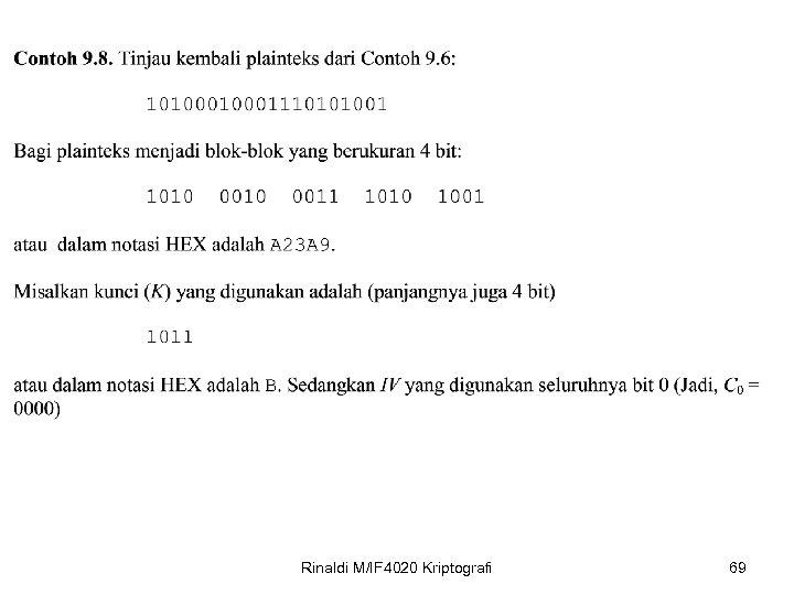Rinaldi M/IF 4020 Kriptografi 69