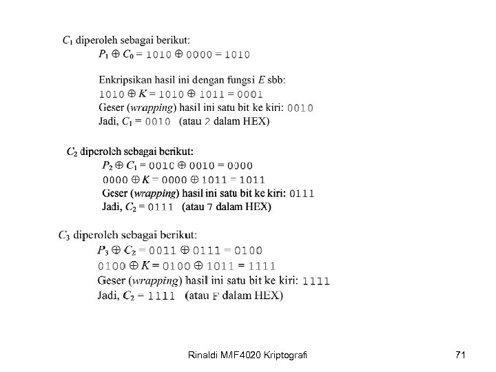 Rinaldi M/IF 4020 Kriptografi 71