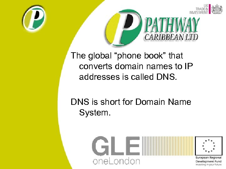 """The global """"phone book"""" that converts domain names to IP addresses is called DNS"""