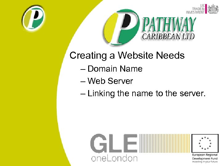Creating a Website Needs – Domain Name – Web Server – Linking the name