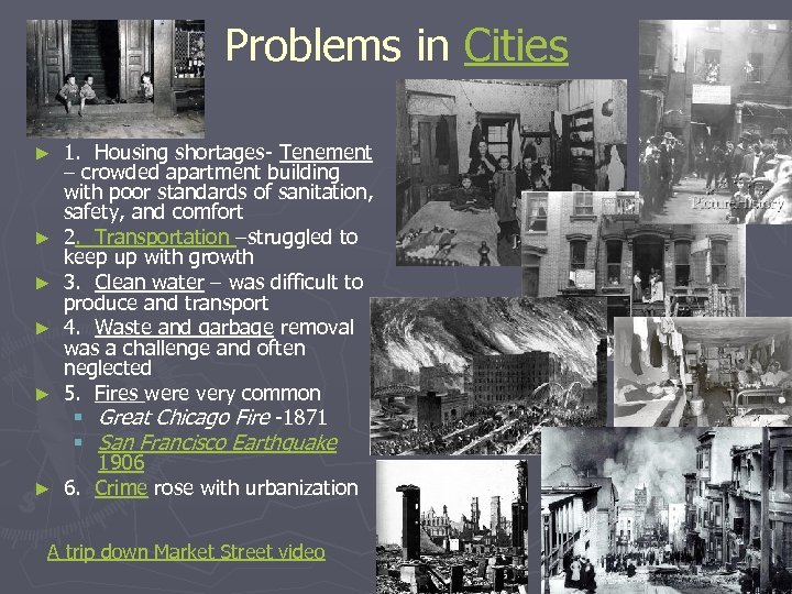 Problems in Cities ► ► ► 1. Housing shortages- Tenement – crowded apartment building