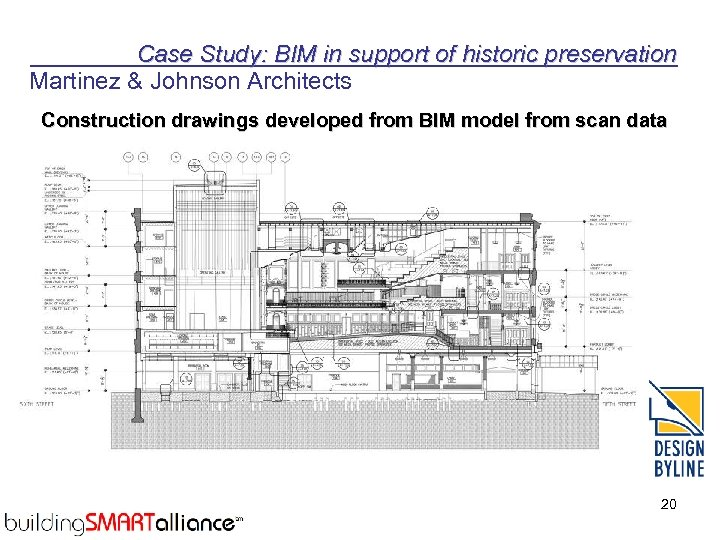 Case Study: BIM in support of historic preservation Martinez & Johnson Architects Construction drawings