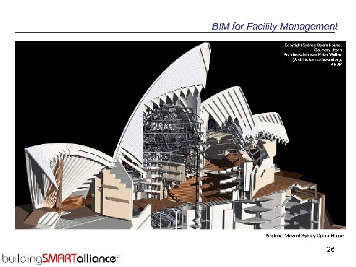 BIM for Facility Management Copyright Sydney Opera House. Courtesy Utzon Architects/Johnson Pilton Walker (Architects