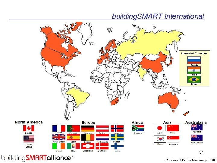 building. SMART International Interested Countries Russia India Brazil 31 Courtesy of Patrick Mac. Leamy,