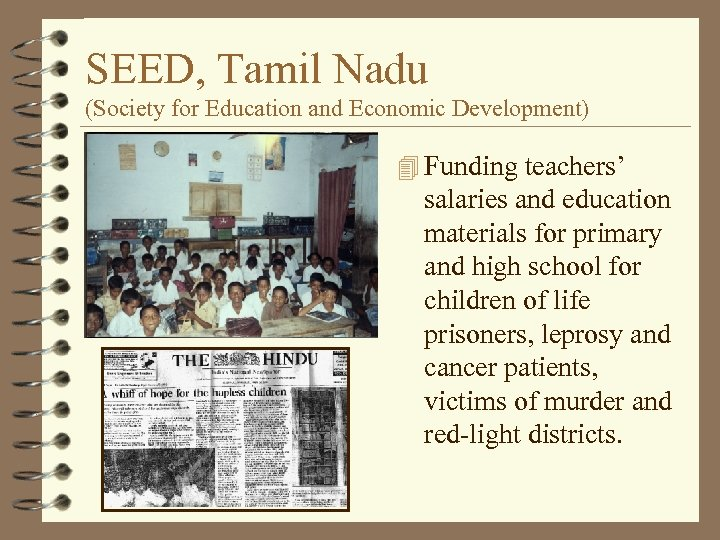 SEED, Tamil Nadu (Society for Education and Economic Development) 4 Funding teachers' salaries and