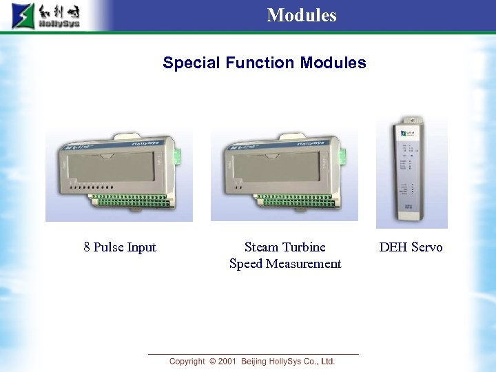 Modules Special Function Modules 8 Pulse Input Steam Turbine Speed Measurement DEH Servo