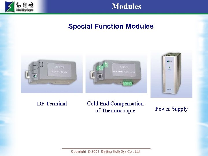 Modules Special Function Modules DP Terminal Cold End Compensation of Thermocouple Power Supply