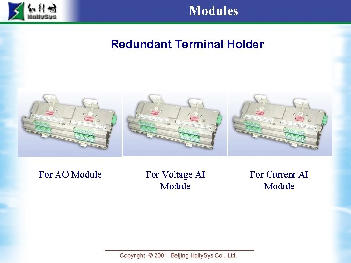 Modules Redundant Terminal Holder For AO Module For Voltage AI Module For Current AI