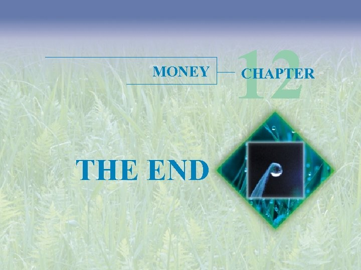 MONEY THE END 12 CHAPTER