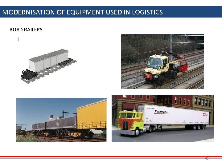 MODERNISATION OF EQUIPMENT USED IN LOGISTICS ROAD RAILERS 45