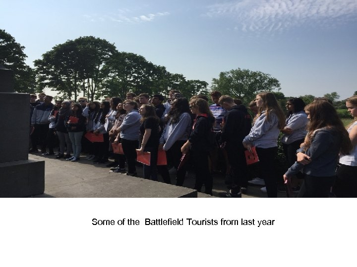 Some of the Battlefield Tourists from last year