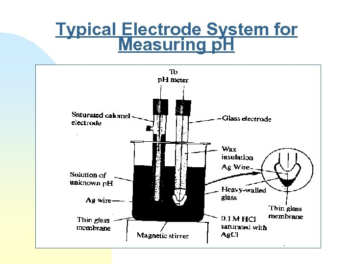 Typical Electrode System for Measuring p. H