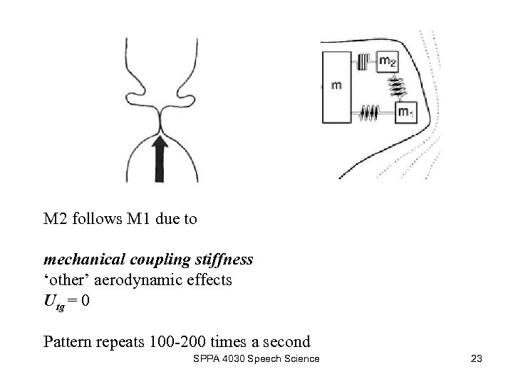 M 2 follows M 1 due to mechanical coupling stiffness 'other' aerodynamic effects Utg