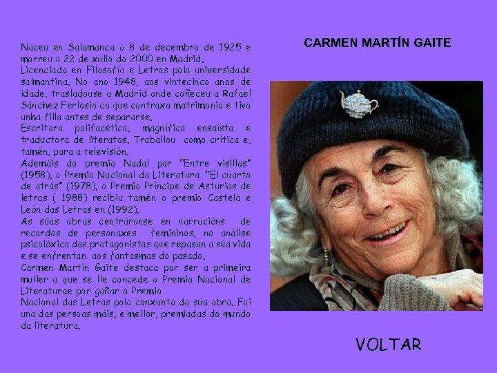 Naceu en Salamanca o 8 de decembro de 1925 e morreu o 22 de
