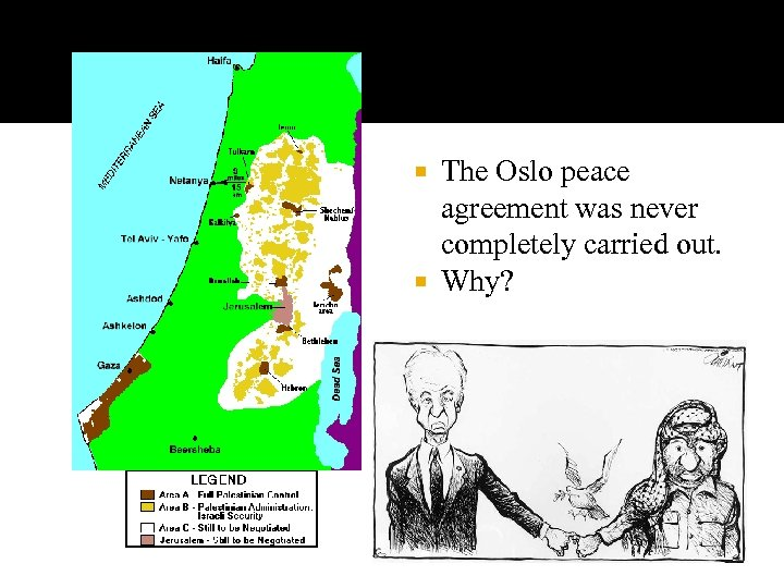 The Oslo peace agreement was never completely carried out. Why?