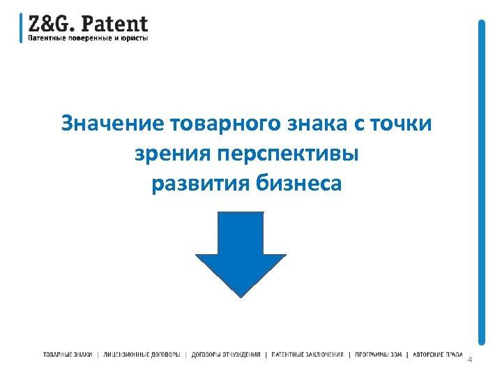 Значение товарного знака с точки зрения перспективы развития бизнеса 4