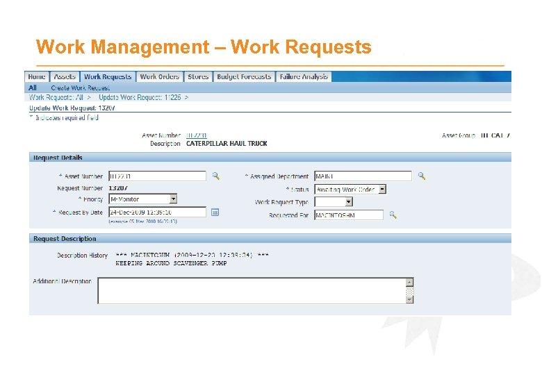 Work Management – Work Requests