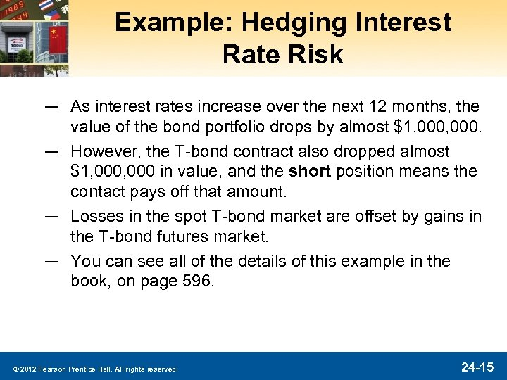 Example: Hedging Interest Rate Risk ─ As interest rates increase over the next 12