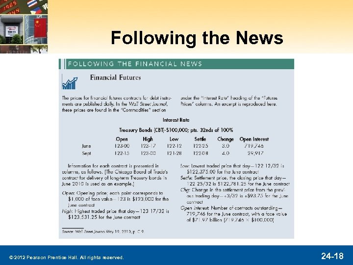 Following the News © 2012 Pearson Prentice Hall. All rights reserved. 24 -18