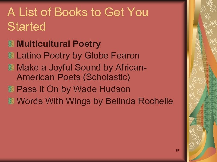 A List of Books to Get You Started Multicultural Poetry Latino Poetry by Globe