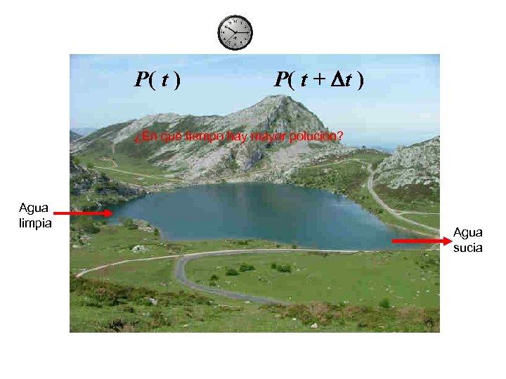 P( t ) P( t + Dt ) ¿En qué tiempo hay mayor polución?