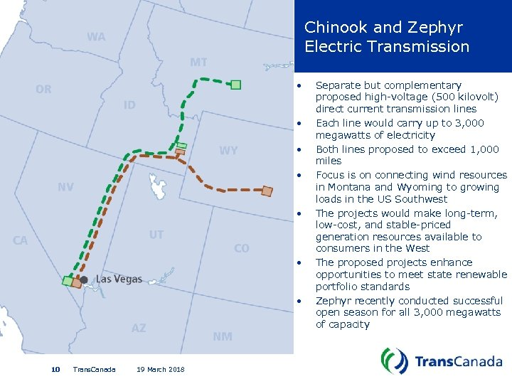 Chinook and Zephyr Electric Transmission • • 10 Trans. Canada 19 March 2018 Separate