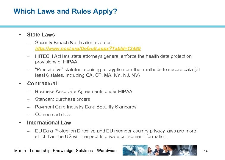 Which Laws and Rules Apply? State Laws: – – HITECH Act lets state attorneys