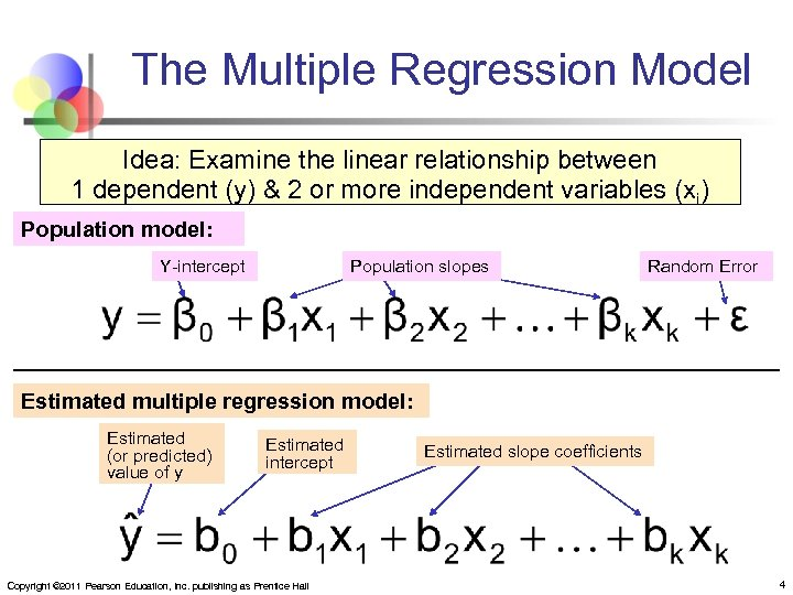 experimenting on the relationship of multiple regressions in variable Equation generally, multiple regression analysis assumes that there is a linear relationship between dependent variable (y) and independent variables (x1.