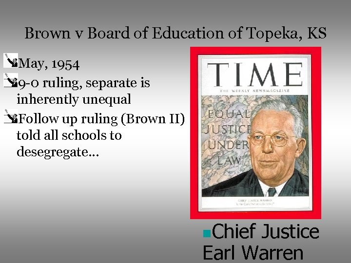 the case of linda brown vs the board of education of topeka kansas a case of racial discrimination i Brown v board of education of topeka, kansas brown v board of education, 347 us 483, 47 s ct 686, 98 l ed 873, was the most significant of a series of judicial decisions overturning segregation laws—laws that separate whites and blacks.