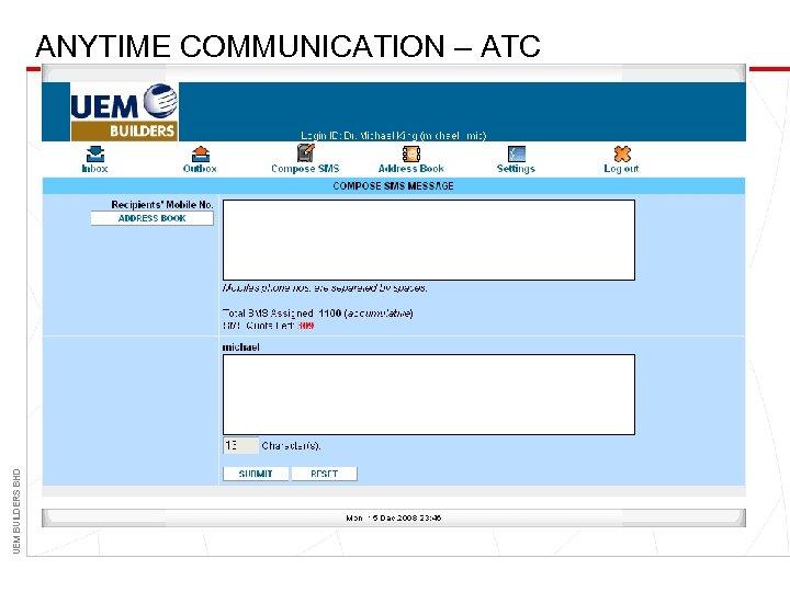 UEM BUILDERS BHD ANYTIME COMMUNICATION – ATC