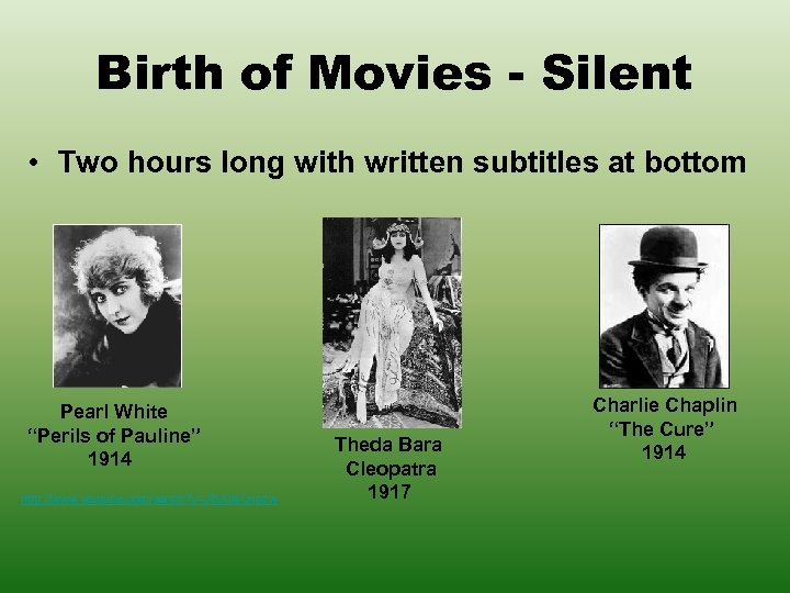 Birth of Movies - Silent • Two hours long with written subtitles at bottom