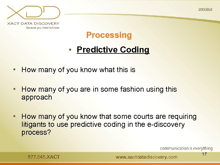 previous Processing • Predictive Coding • How many of you know what this is