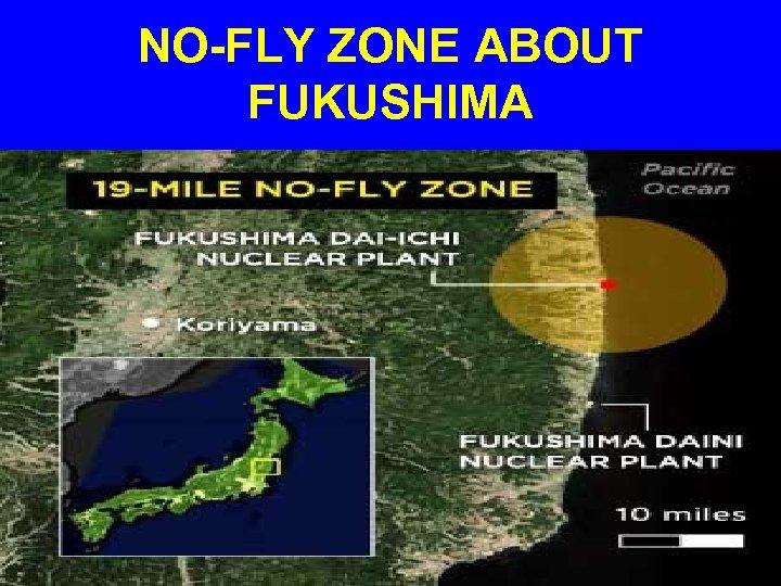 NO-FLY ZONE ABOUT FUKUSHIMA