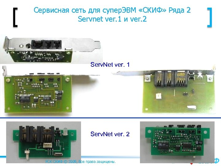 Сервисная сеть для супер. ЭВМ «СКИФ» Ряда 2 Servnet ver. 1 и ver. 2