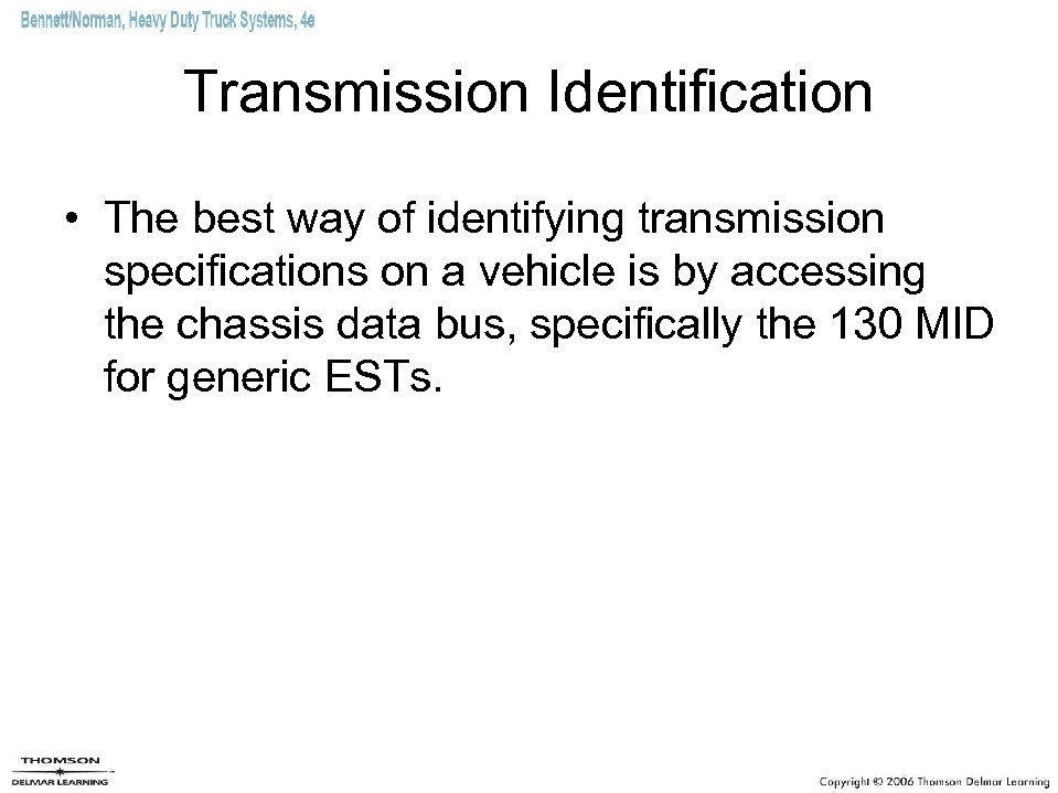 Chapter 20 Electronically Automated Standard Transmissions