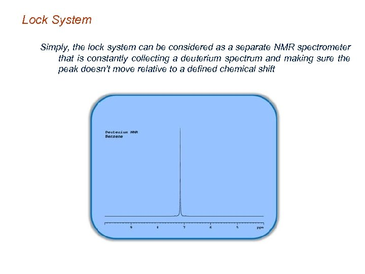 Lock System Simply, the lock system can be considered as a separate NMR spectrometer