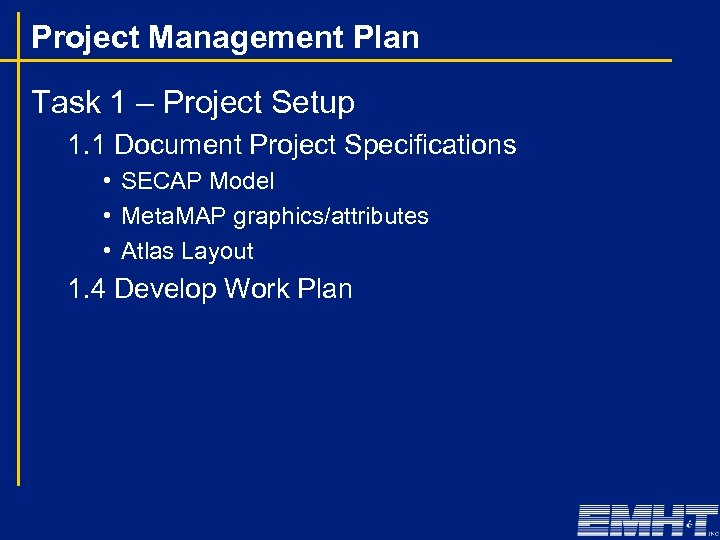 Project Management Plan Task 1 – Project Setup 1. 1 Document Project Specifications •
