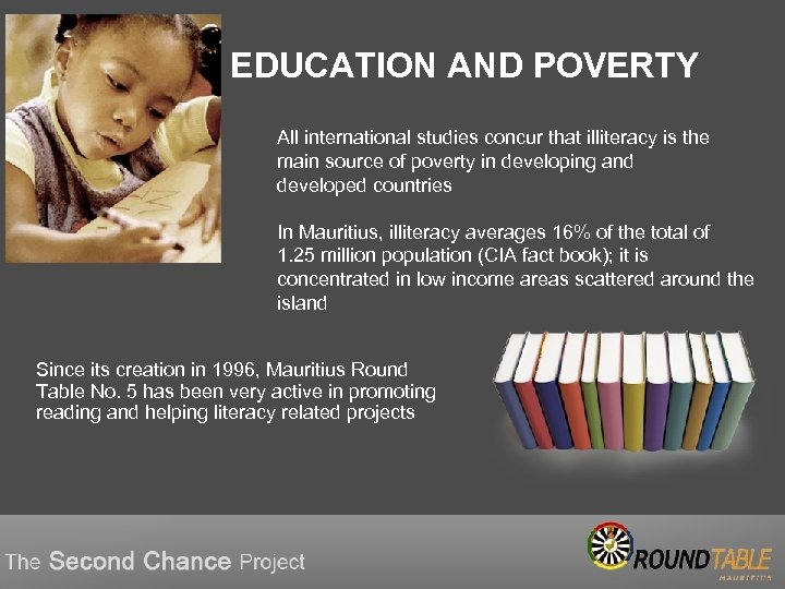 EDUCATION AND POVERTY All international studies concur that illiteracy is the main source of