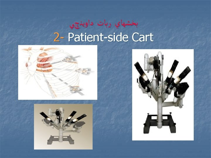 ﺑﺨﺸﻬﺎﻱ ﺭﺑﺎﺕ ﺩﺍﻭﻳﻨچﻲ 2 - Patient-side Cart
