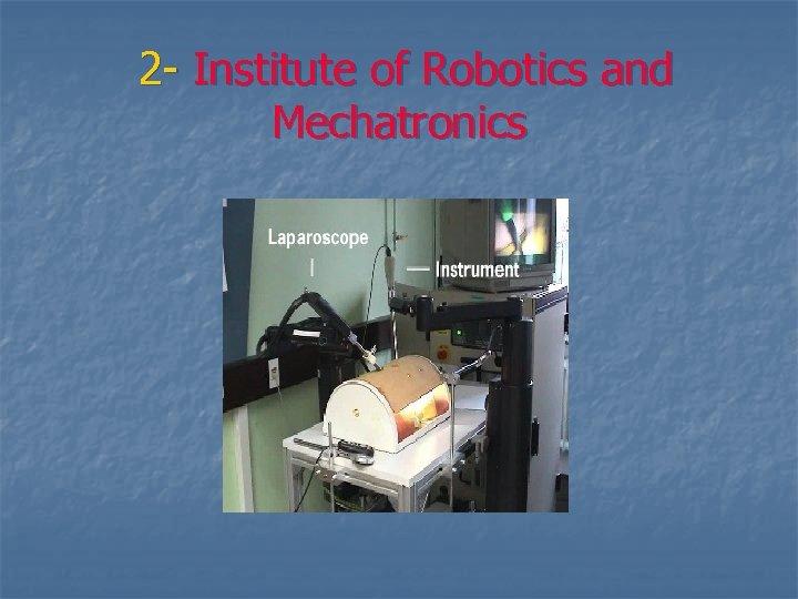 2 - Institute of Robotics and Mechatronics