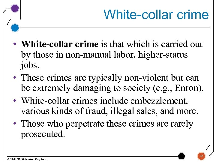 White-collar crime • White-collar crime is that which is carried out by those in