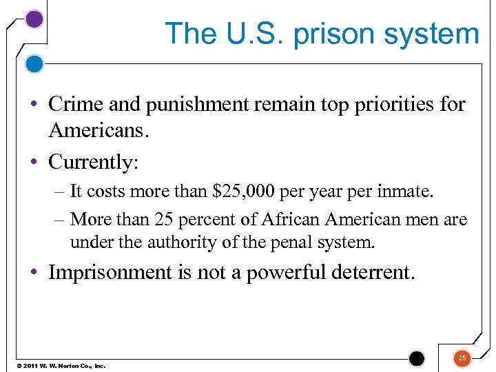 The U. S. prison system • Crime and punishment remain top priorities for Americans.