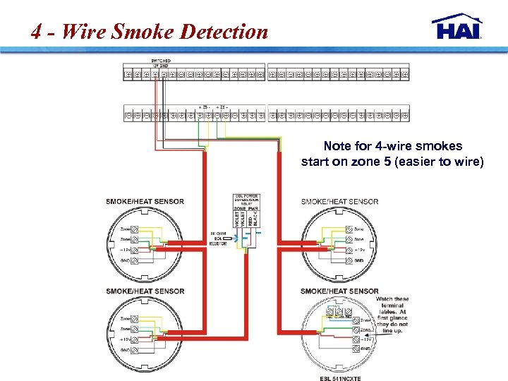 4 - Wire Smoke Detection Note for 4 -wire smokes start on zone 5