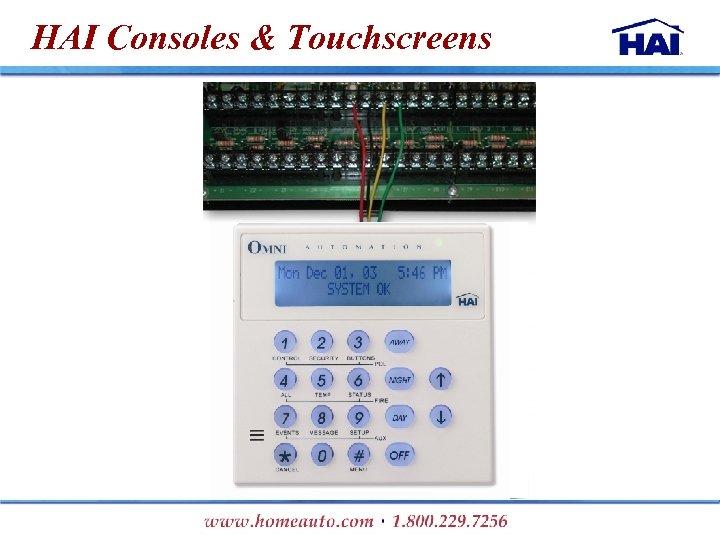HAI Consoles & Touchscreens