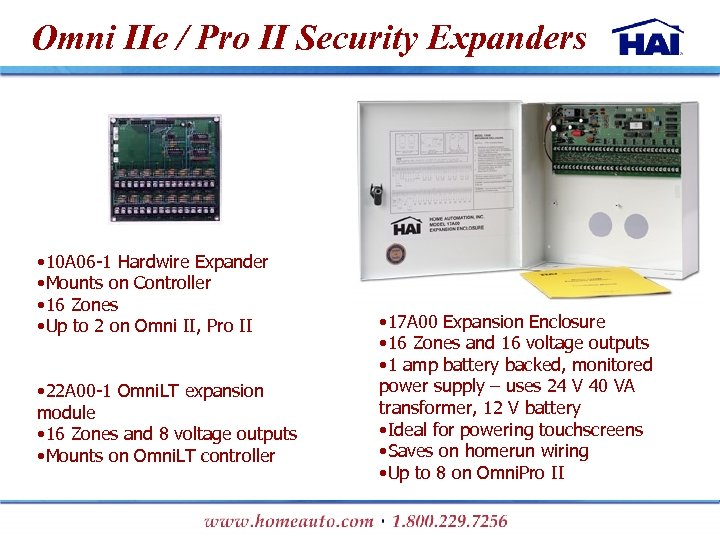 Omni IIe / Pro II Security Expanders • 10 A 06 -1 Hardwire Expander