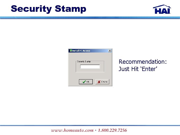 Security Stamp Recommendation: Just Hit 'Enter'