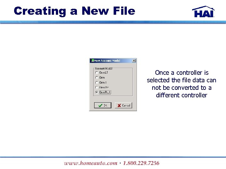 Creating a New File Once a controller is selected the file data can not