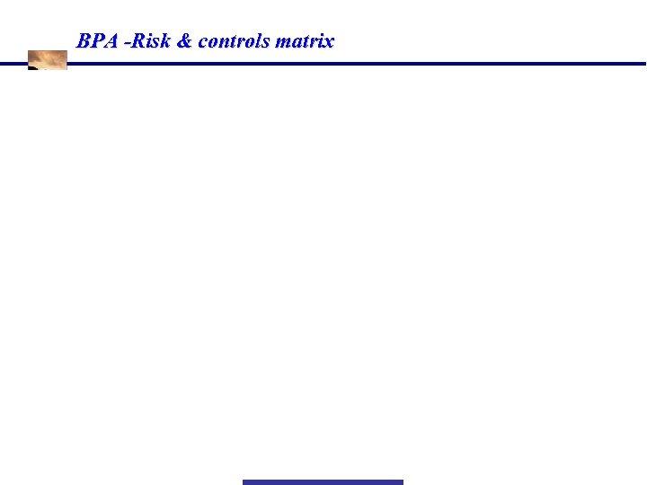 BPA -Risk & controls matrix Information Risk Management Page - 16 Ó All Rights