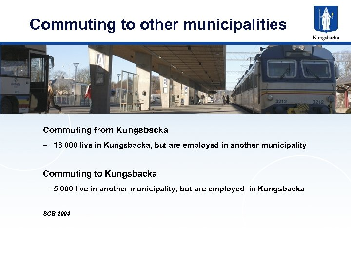 Commuting to other municipalities Commuting from Kungsbacka – 18 000 live in Kungsbacka, but