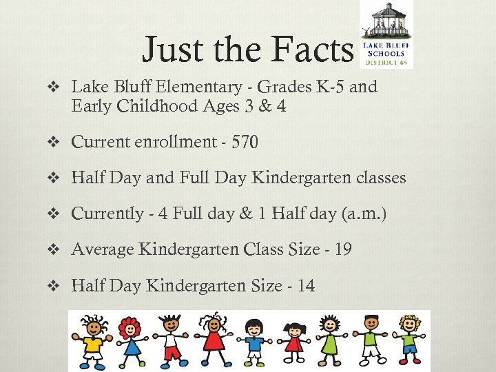 Just the Facts v Lake Bluff Elementary - Grades K-5 and Early Childhood Ages